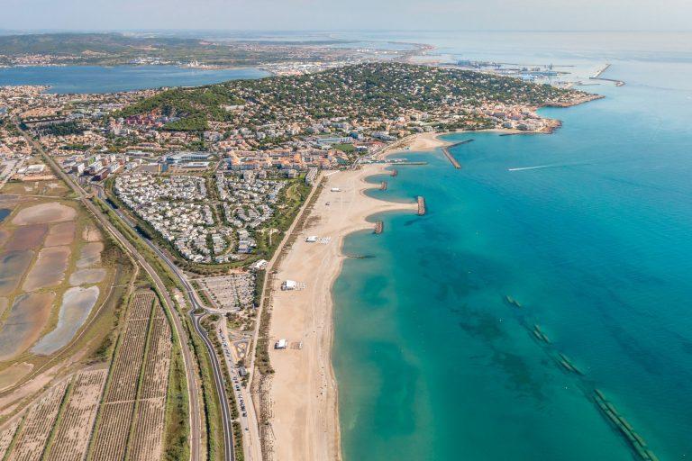 Vue aérienne de Sète Villeroy