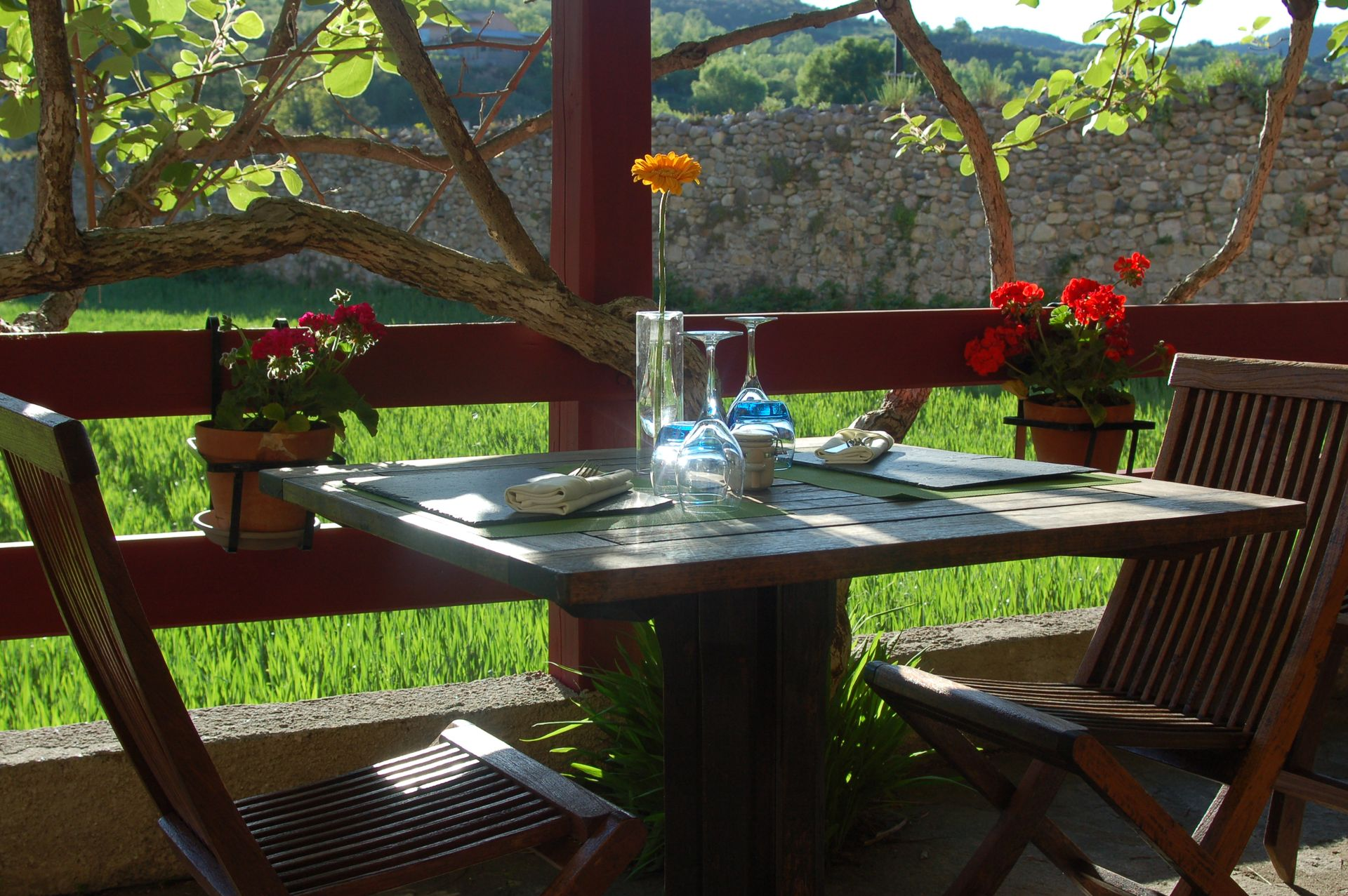 Terrasse Restaurant l'Auberge de l'Abbaye