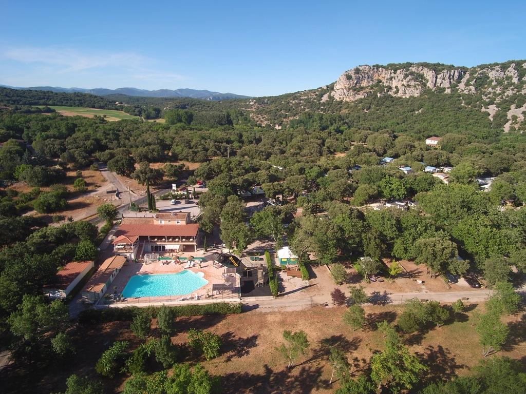 Photo aérienne du Camping le Val d'Hérault