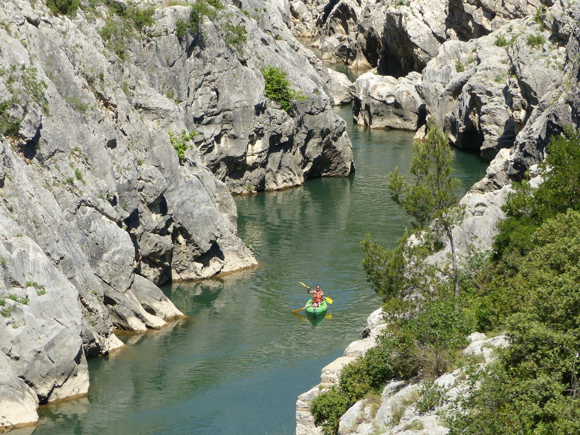 Gorges de l'Hérault en canoë