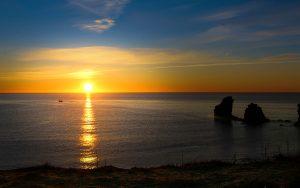 Lever de soleil sur la Plage de la Grande Conque au Cap d'Agde