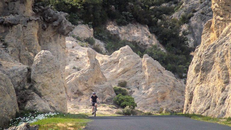 En vélo entre Mourèze et Salasc