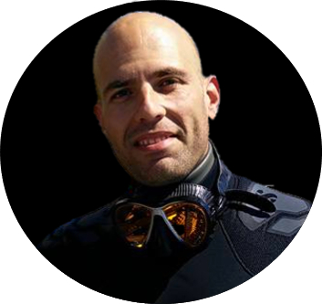 Portrait de Pascal Girard, photographe d'ambiances sous-marines