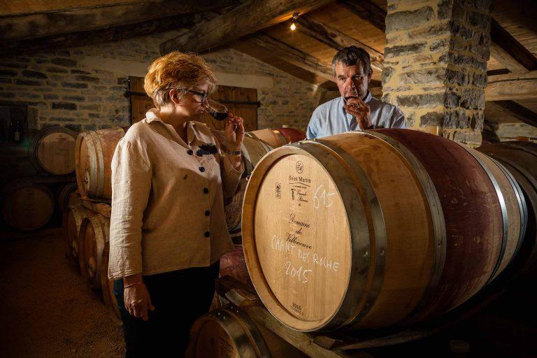 Dégustation de vin au Domaine de Villeneuve